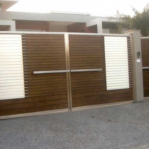 Stainless Steel Modern House Gate Designs: Stainless Steel Fancy Gates