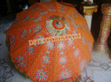 Wedding Embrodried Orange Umbrella