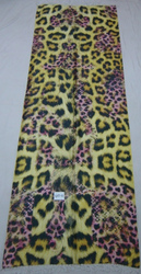 Silk Scarf With Leopard Digital Print Size 70x200 Cms