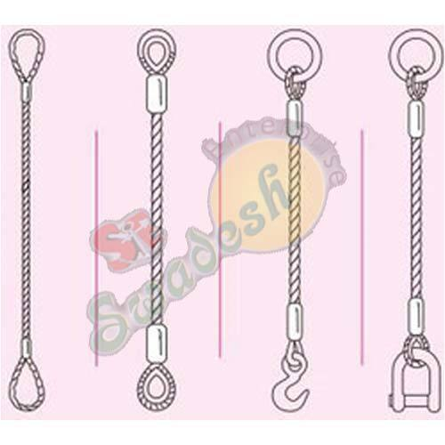 Single Part Wire Rope Slings