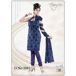 Cotton Printed Churidar Kameez