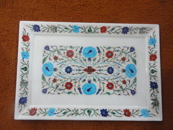 Marble Inlay Art Tray