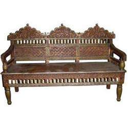 Carved Sofa Double Embossed