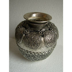 Copper Pot Carved