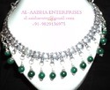 Synthetic Green Onyx Gem Stone Necklace