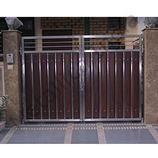 Stainless Steel & Wood Combined Gate