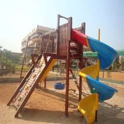 Wooden Castle (Playground Equipment)-1