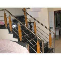 Wooden & Stainless Steel Railings