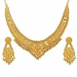Carved Gold Necklace Sets