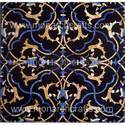 Black Marble Inlaid Tiles