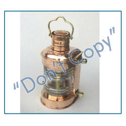Copper Ship Oil Lamps
