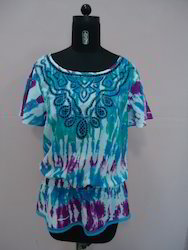 Tie Dye Embroidery Top.