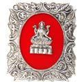 goddess lakshmi - white metal god frame