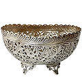 truly imperial white metal trays bowls