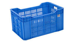 Blue Rectangular Fruit Crates