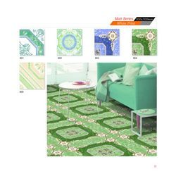 Matt Series Floor Tiles (White Print)
