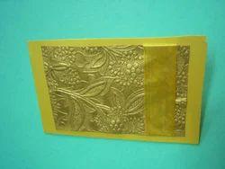 Embossed Handmade Paper Wedding Card