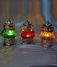 colored glass lantern