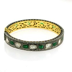 Gemstone Emerald Bangle