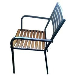 Teak Wood Slot Chair