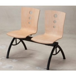L Shaped Wooden 2 Seater