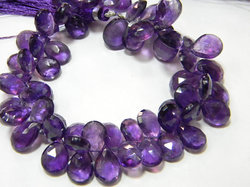 African+Amethyst+Faceted+Pear+Briolettes