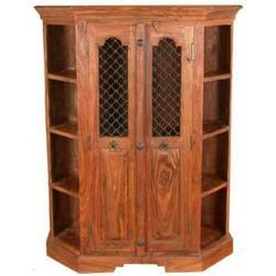 Iron Mesh Door Corner Unit with Side Shelfs