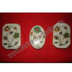 Marble Inlaid Pill Boxes