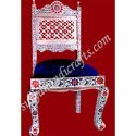 White Metal Meena Painting Sofa Chair