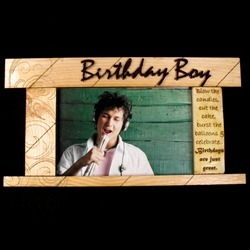 Wooden Photo Frame For Birthday Boy