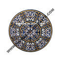 Round Black Marble Inlay Table Tops
