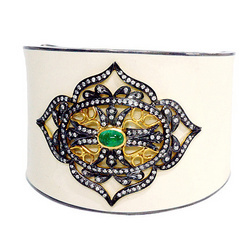 Diamond bangle enamel jewelry