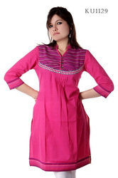 Lovely Pink Embroidered Kurti