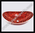 red onyx oval sink