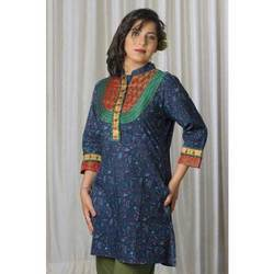 Cotton Long Full Neck Kurta