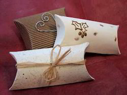 Handmade Paper Pillow Boxes