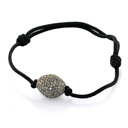 Pave Diamond Bead Shamballa Bracelets