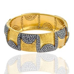 Diamond studded Fusion Bangle