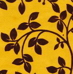Floral Design Flock Printed Handmade Papers Suitable
