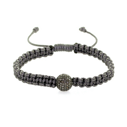 Macrame Diamond Bead Bracelet Jewelry