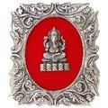 lord ganesha - white metal god frame