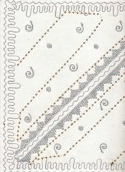 Embroidered Handmade Scrapbook Papers
