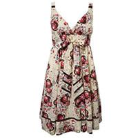 Sleeveless Printed Tunic Dresses