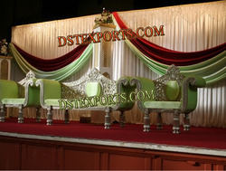 Wedding New Silver Carved Furniture