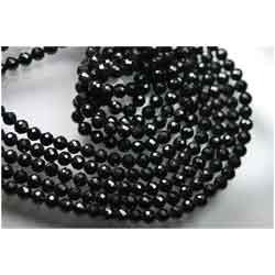 AAA--Black Spinel Micro Faceted Round