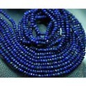Peacock Blue Natural Blue Lapis Faceted Rondelles