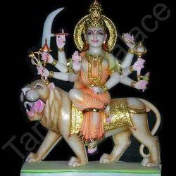 Durga Statue Sitting On Lion