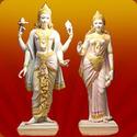 White Marble Lakshmi Narayan Statue