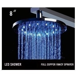 Brass Led Overhead Showers