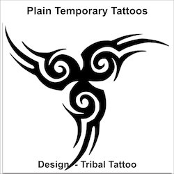 Plain Designed Tattoo